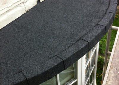 half circle flat roof